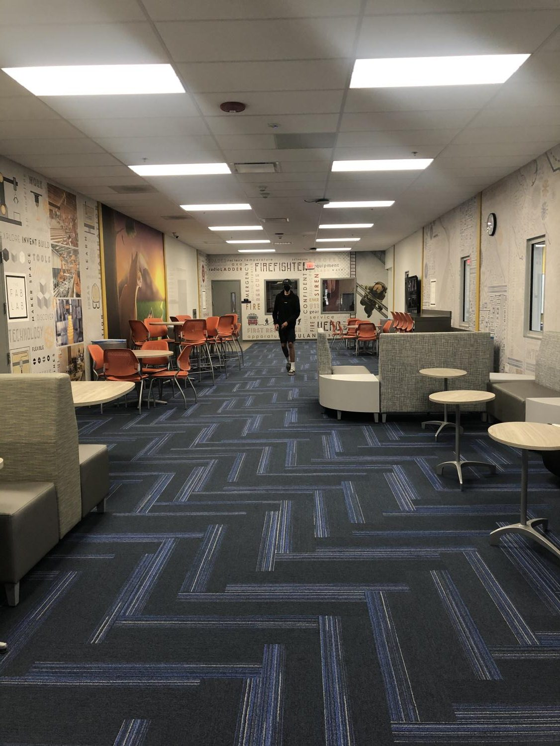 The common area in the new Technology Career Center