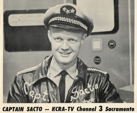 Fred Wade on the set of Captain Sacto in 1955.